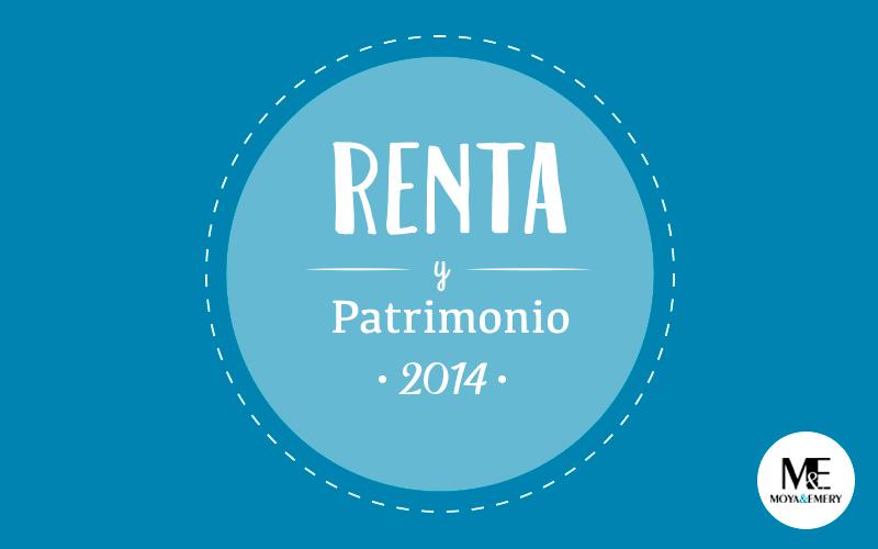 renta y patrimonio 2014
