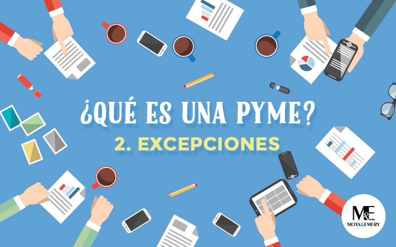 excepciones pymes