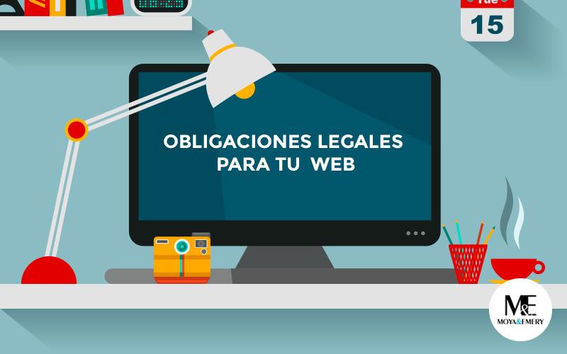 obligaciones legales web