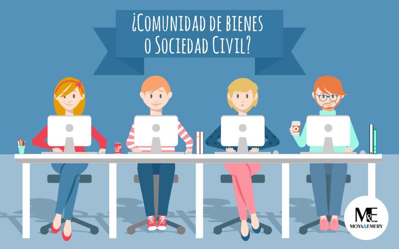 comunidad de bienes o sociedad civil