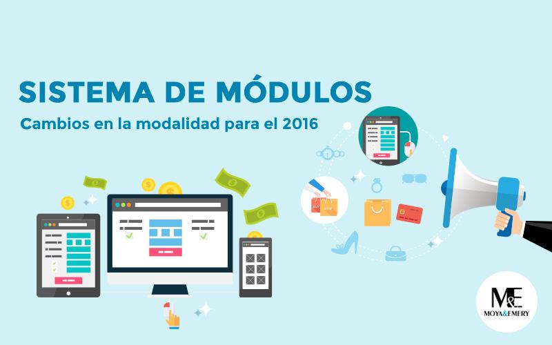 cambio sistema de modulos 2016