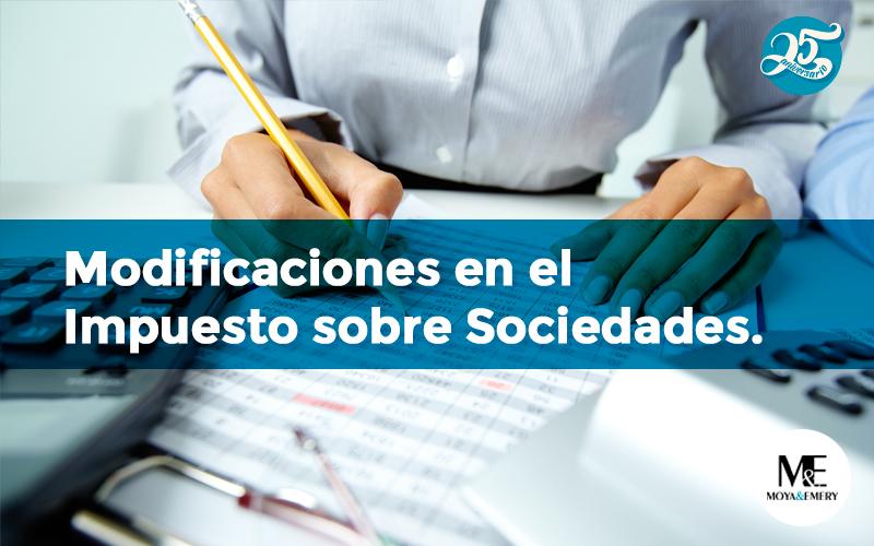 modificaciones impuesto sociedades